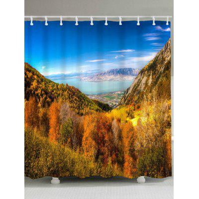 Grand Mountains Waterproof Polyester Shower Curtain