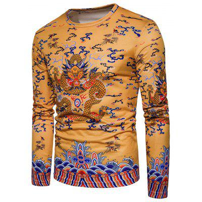 Chinese Style Dragon Print Long Sleeve T-shirtMens Long Sleeves Tees<br>Chinese Style Dragon Print Long Sleeve T-shirt<br><br>Collar: Crew Neck<br>Material: Cotton, Polyester<br>Package Contents: 1 x T-shirt<br>Pattern Type: Animal, Print<br>Season: Spring<br>Sleeve Length: Full<br>Style: Casual, Fashion, Streetwear<br>Weight: 0.3000kg