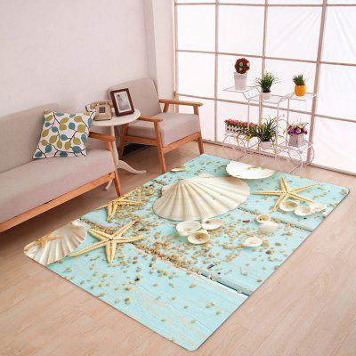 Shell Starfish Deck Pattern Water Absorption Area Rug