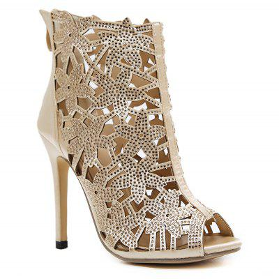 Stiletto Heel Hollow Out Peep Toe Sandals