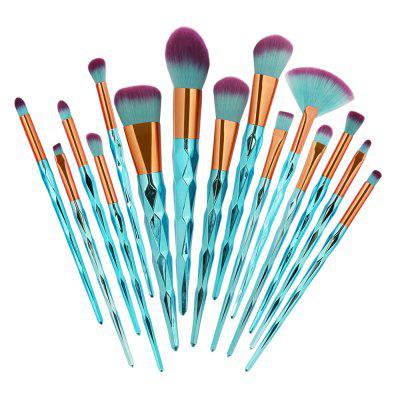 Professional 15Pcs Zircon Pattern Ultra Soft Makeup Brush Set