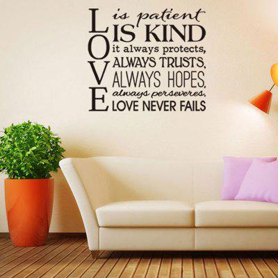 Sentence Patterned Wall Decal about Love