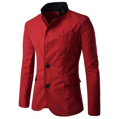 Stand Collar Single Breasted Casual Blazer