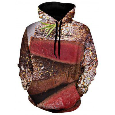 Scallion and Beef 3D Print Hoodie