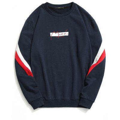 Color Block Crew Neck Pullover Sweatshirt
