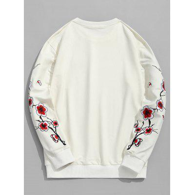 Pullover Plum Blossom Embroidered SweatshirtMens Hoodies &amp; Sweatshirts<br>Pullover Plum Blossom Embroidered Sweatshirt<br><br>Material: Polyester<br>Package Contents: 1 x Sweatshirt<br>Pattern Type: Floral<br>Shirt Length: Regular<br>Sleeve Length: Full<br>Style: Fashion<br>Weight: 0.6700kg