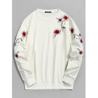 Pullover Plum Blossom Embroidered Sweatshirt