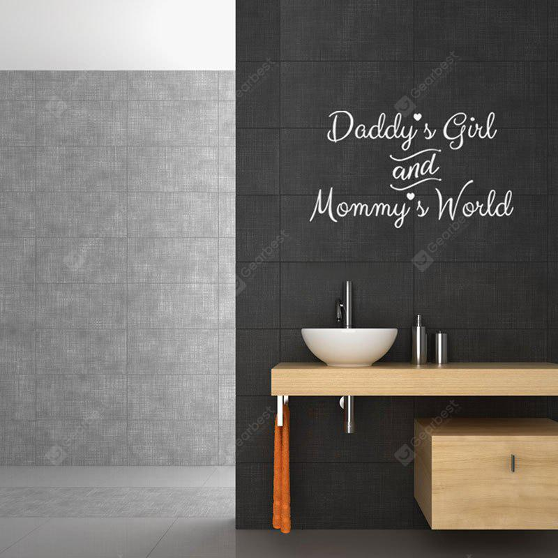 Daddy's Girl and Mommy's World Letter Words Wall Sticker