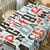 Letter Print Waterproof Dining Table Cloth - COR MISTURA