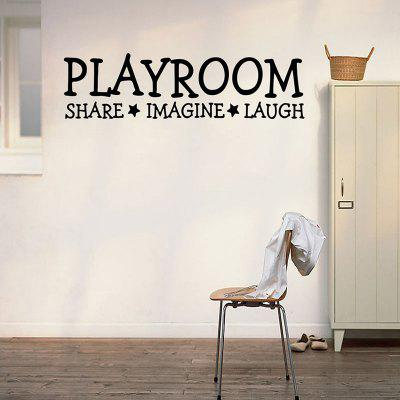Playroom Condividi Imagine Laugh Pattern Letter Decalcomania da muro
