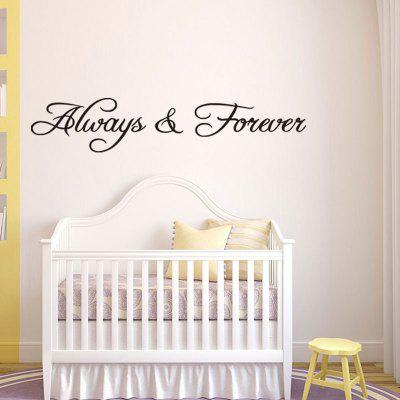 Merveilleux Always And Forever Removable Letter Wall Decal ...
