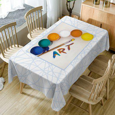 Painting Art Print Waterproof Dining Table Cloth W60 INCH * L84 ...