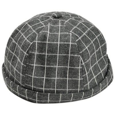 Vintage Checked Pattern Embellished Beret Hat