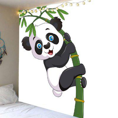 Panda Hugging Bamboo Wall Art Tapestry