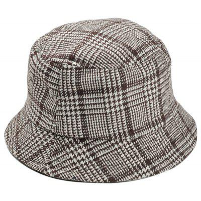 Simple Houndstooth Pattern Embellished Bucket Hat