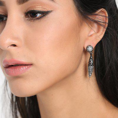 Leaf Rhinestones Shaped Stud Earrings