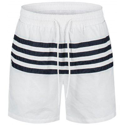 Striped Swimming Board Shorts