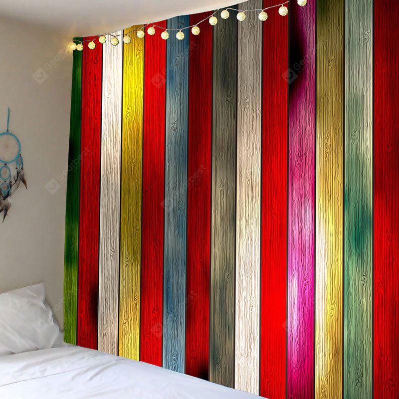 Colorful Plank Printed Wall Art Tapestry