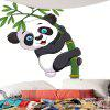 Panda Hugging Bamboo Wall Art Tapestry - BLACK WHITE