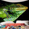 Chameleon Print Tapestry Wall Hanging Art Decoration - EMERALD