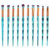 Professional Zircon Pattern Ultra Soft Eye Makeup Brush Set - GREEN