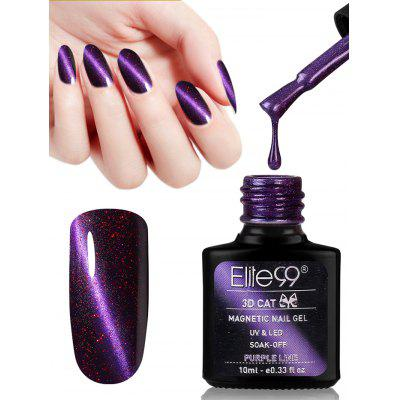 10ML Purple Series Color Changing Cat Eye Soak Off Nail Art Nail Polish