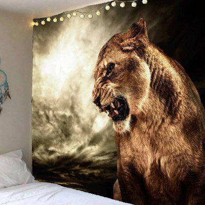 Buy Roaring Lion Printed Hanging Wall Art Tapestry, BROWN, Home & Garden, Home Textile, Bedding, Blankets & Throws for $20.97 in GearBest store