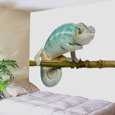 Chameleon Stand on the Tree Print Tapestry