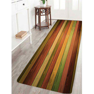 Alfombra antideslizante Vintage Colorful Laths Pattern