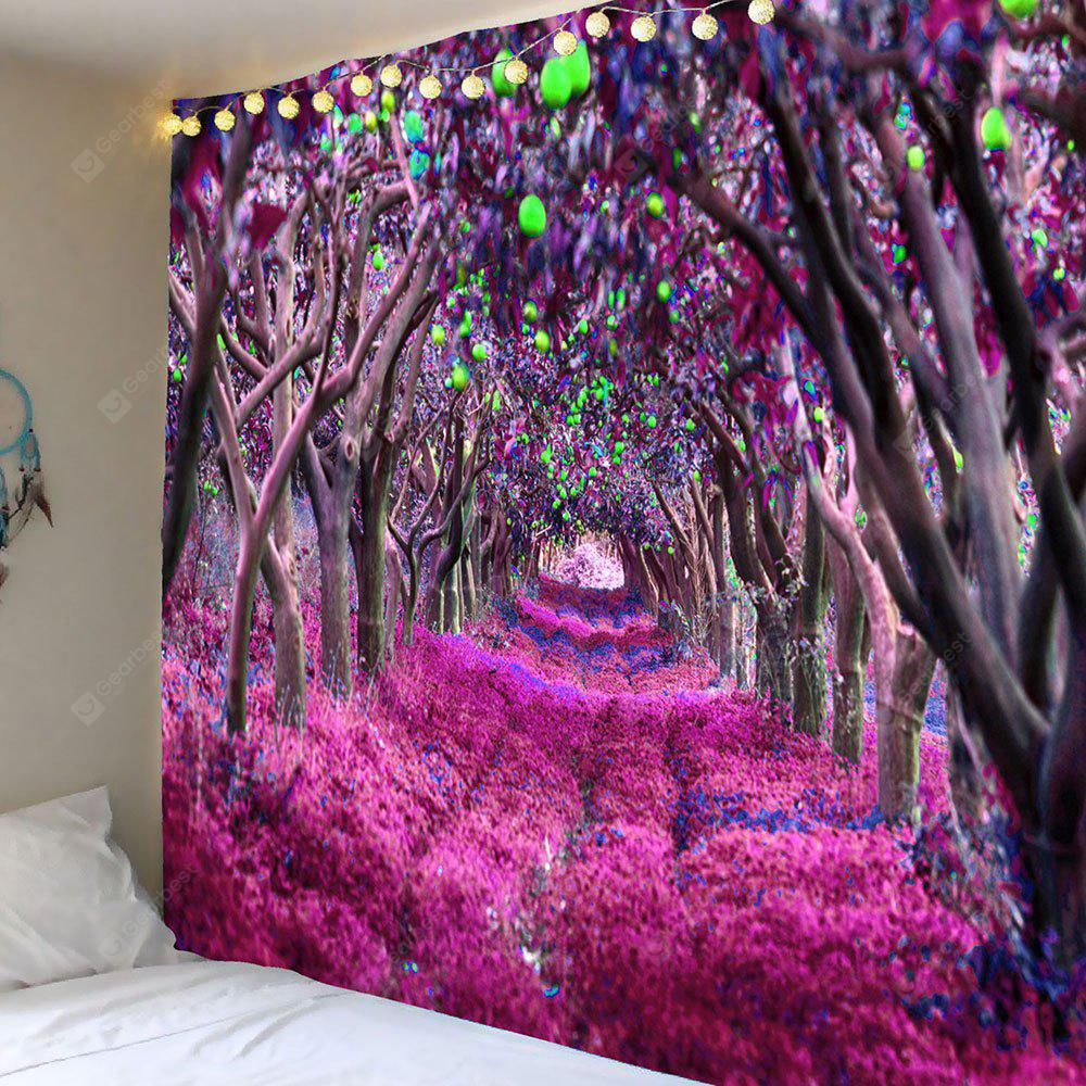 Forest Flower Path Way Printed Wall Decor Tapestry