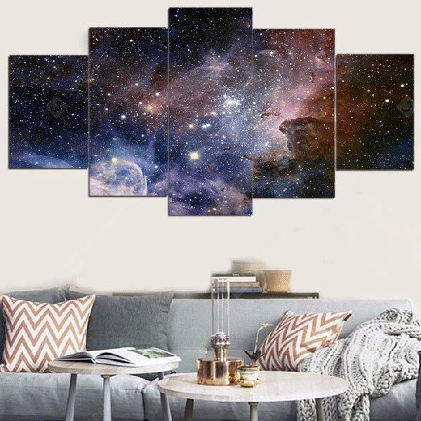 Galaxy Starry Printed Split Unframed Canvas Paintings