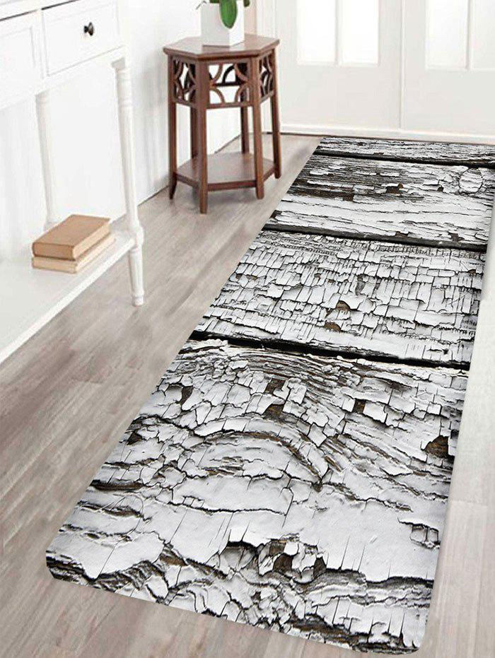 Rotten Wood Print Nonslip Floor Area Rug