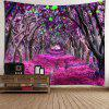 Forest Flower Path Way Printed Wall Decor Tapestry - PURPLE