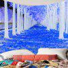 Forest Path Way Printed Wall Art Tapestry - BLUE