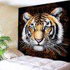 Tiger Printed Waterproof Wall Art Tapestry - BROWN AND WHITE