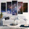 Galaxy Starry Printed Split Unframed Canvas Paintings - COLORFUL