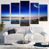Starry Moonlight Scenery Printed Canvas Paintings - BLUE