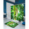 Lizard Climbing the Tree Pattern Shower Curtain - GREEN
