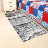 Rotten Wood Print Nonslip Floor Area Rug - GREY WHITE