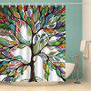 Waterproof Colorful Tree Printed Shower Curtain - COLORFUL