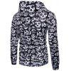 Skulls Pullover Halloween Hoodie - WHITE AND BLACK