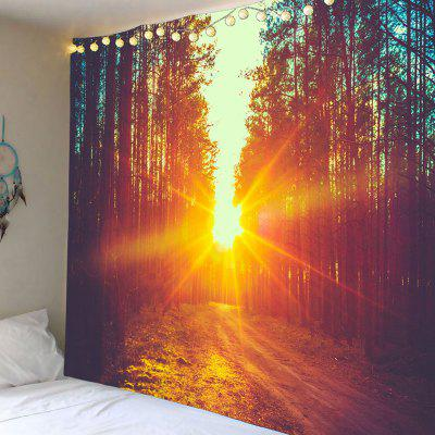 Sunset Forest Printed Waterproof Wall Hanging Tapestry