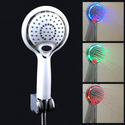 LED Display Temperature Control Color Changing Shower Head