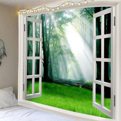 Impermeabile Dawn Forest Grass Print Wall Tapestry