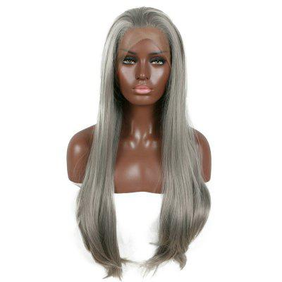 Long Free Part Layered Straight Lace Front Synthetic Wig