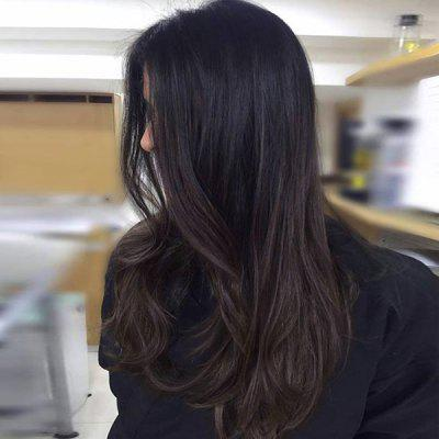 Long Center Parting Gradient Straight Synthetic Wig