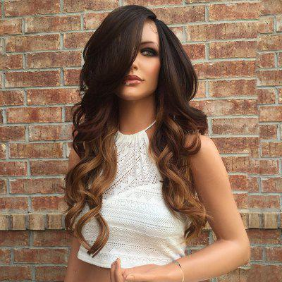 Long Side Parting Colormix Wavy Party Synthetic Wig