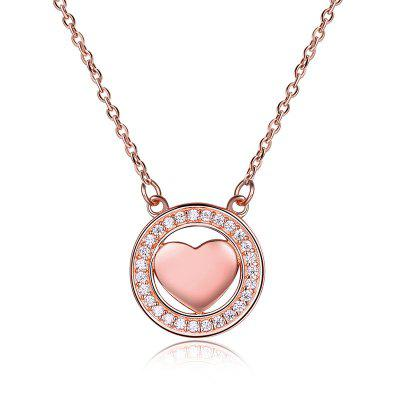 Valentine's Day Sterling Silver Heart Necklace
