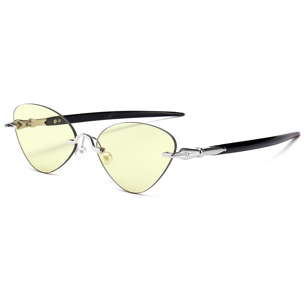 LIGHT YELLOW, Apparel, Glasses, Stylish Sunglasses, Women's Sunglasses