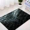 Cobblestone Pattern Indoor Outdoor Area Rug - BLACK